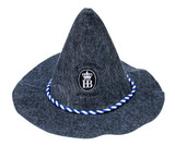 Oktoberfest Hofbrauhaus Felt Party Hat Gray