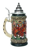 Oktoberfest Clydesdales and Beer Wagon Stein, Rustic