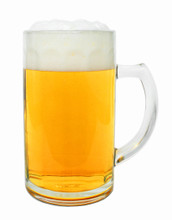 German Beer Glass with Handle