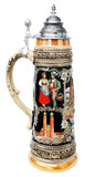 Munich Oktoberfest Ceramic Beer Stein with Lid