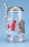Canada Glass Beer Stein