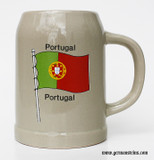 Portugal Flag Stoneware Beer Mug