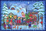 Christmas Train Scene German Advent Calendar