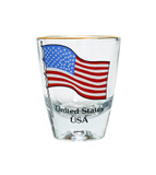 USA Flag Shot Glass