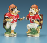 Football Smokin' Bulldog Beer Stein