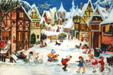Ice Skaters German Christmas Advent Calendar