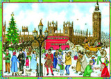 Old London Town Square German Advent Calendar