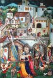 Wooden Traditional German Advent Calendar Bethlehem