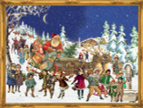 Victorian Santas Sleigh Ride German Advent Calendar