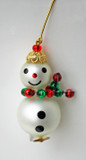 Miniature Snowman Old World Glass Ornament