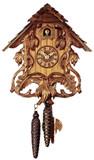 Sword Lilies German Cuckoo Clock