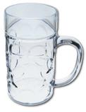 Plastic 0.5 Liter Dimpled Beer Mug