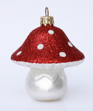 Mushroom Glass German Christmas Ornament