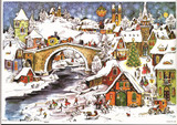 Winter Creek Village German Advent Calendar