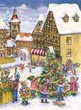 Decorating the Town Christmas Tree German Advent Calendar