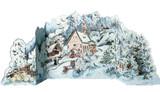 3D Alpine Christmas German Advent Calendar