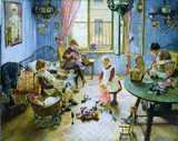 Kinderzimmer by Fritz von Uhde German Advent Calendar