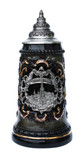 Freiburg Souvenir Beer Stein with Pewter Badge
