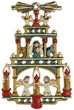 German Christmas Pyramid Pewter Ornament