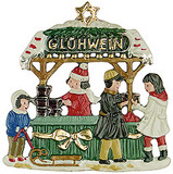 Gluehwein Stand German Pewter Christmas Ornament