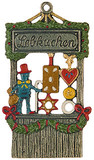 Gingerbread Stand German Pewter Christmas Ornament
