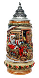 Santa in Sleigh Christmas Beer Stein