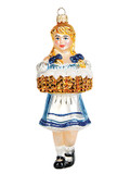 Fraeulein Beer Maiden Authentic German Glass Xmas Ornament