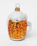 Dimpled Oktoberfest Beer Mug Mini Glass Christmas Ornament