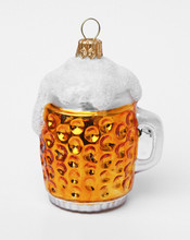 Oktoberfest Glass Beer Mug German Glass Christmas Ornament