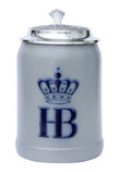 Hofbrauhaus German Ceramic Beer Stein with Pewter Lid