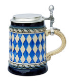 Bavarian Diamond Pattern Beer Stein