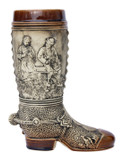 German Ceramic Beer Boot 1 Liter Rustic