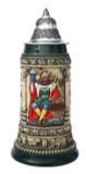 Gambrinus The Beer King Stein Hand Painted