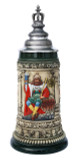 Gambrinus The Beer King Stein with Crown Lid