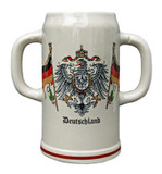 Double Handle Deutschland 2 Liter Stoneware Mug