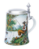 Fisherman Porcelain Beer Stein
