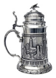 Deutschland German Landmarks Pewter Beer Stein