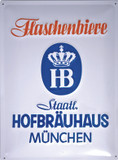 Factory Second Hofbrauhaus HB Historical Metal Beer Sign