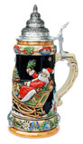 Santas Alpine Sleigh Ride Christmas Beer Stein