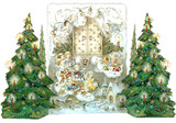 Angels with Christmas Trees 3D German Advent Calendar