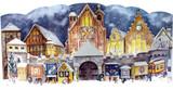 Village Christmas Market 1947 Reproduction 3D German Advent Calendar