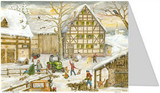 Farm in Winter Advent Calendar Christmas Card