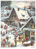 Winter Watermill German Advent Calendar