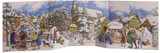 Winter Village Panorama 3D German Advent Calendar