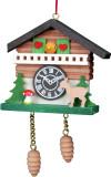 Cuckoo Clock with Deer German Christmas Ornament