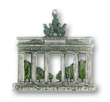 Berlin Brandenburg Gate German Pewter Christmas Ornament