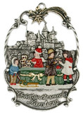 Nuremberg Christmas Market German Pewter Christmas Ornament
