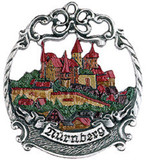 Nuernberg German Pewter Christmas Tree Ornament