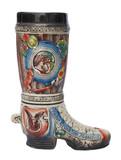German Ceramic Hunters Beer Boot 1 Liter