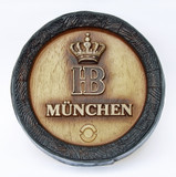 Hofbrauhaus HB Keg Bottom Beer Sign